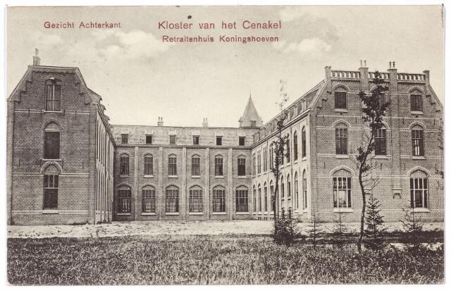 001424 - achterzijde retraitehuis en klooster van O.L.V. van het Cenakel aan de Koningshoeven, nu Kempenbaan.