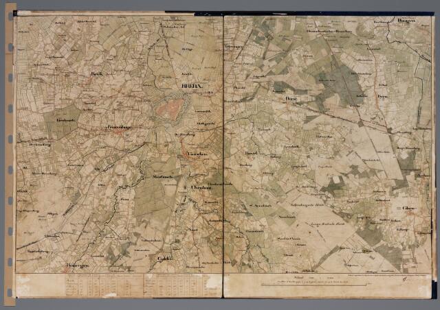 104903 - Kadasterkaart. Kadasterkaart Oosterhout. Stafkaart van Oosterhout en omgeving