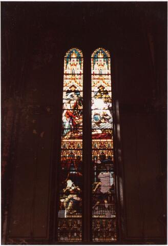 025364 - Glas-in-loodraam in de kapel van het St. Josephgasthuis aan de Lange Nieuwstraat