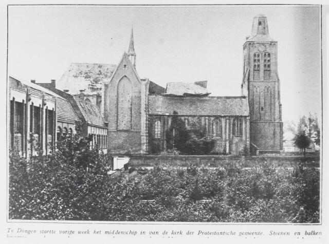 055499 - Nederlands Hervormde Kerk na het instorten van het middenschip