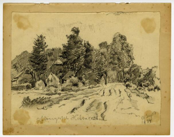 604212 - Tekening van Johannes Elsinga (1893-1969); Moergestel Hilvarenbeek