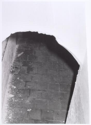 017935 - Detail van het interieur van hofstede De Blaak (kelder onder de opkamer van de boerenwonig)