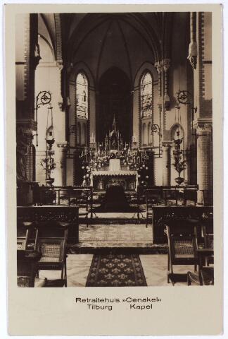001399 - Priesterkoor in de kapel van het klooster en retraitehuis van O.L.V. van het Cenakel aan de Koningshoeven, nu Kempenbaan.