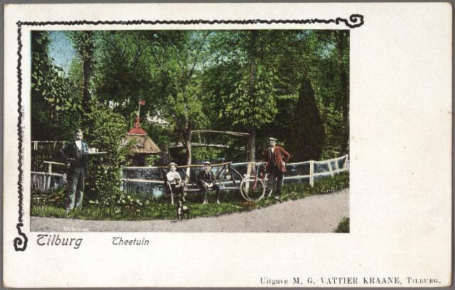 011167 - Bezoekers van de theetuin aan de Koningshoeven.