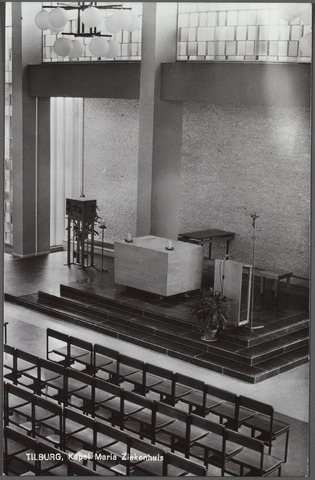 010603 - Gezondheidszorg. Ziekenhuizen. Interieur kapel Mariaziekenhuis aan de Dr. Deelenlaan.