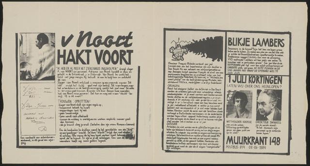 668_1984_148 - Muurkrant: V Noort Hakt Voort