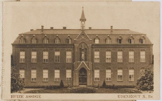 """078313 - Udenhout 1929: """"Huize Assisië"""". Gesticht voor mannelijke zwakzinnigen van den R.K. godsdienst."""