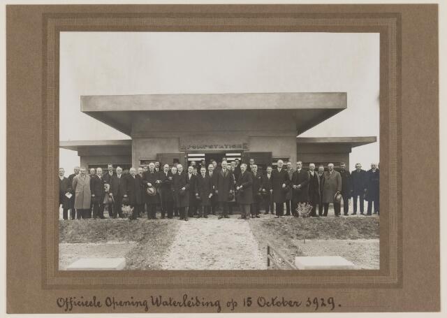 075490 - Oficiele opening Waterleiding te Oisterwijk op 15 october 1929. hier het pompstationb tussen Vugt en Boxtel.