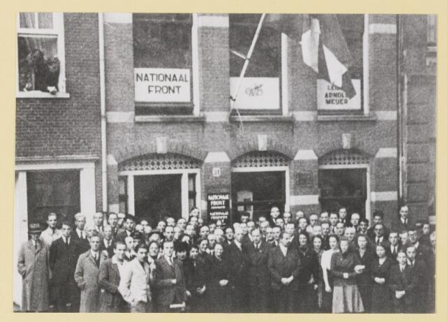 077323 - Arnold Meijer, leider Zwart Front 1934-1941 Opening Nieuwe Stadskwartier in Amsterdam, 11-10-1941 De naam is omgedoopt in Nationaal Front