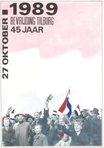 1726_078B - Affiche Tweede Wereldoorlog.  Ter gelegenheid van de viering van 45 jaar Bevrijding Tilburg en omgeving, Keep them Rolling, bevrijdingstocht met legervoertuigen 1940-1945., Afmeting: 30x42 cm , Drukker onbekend.  WOII. WO2.