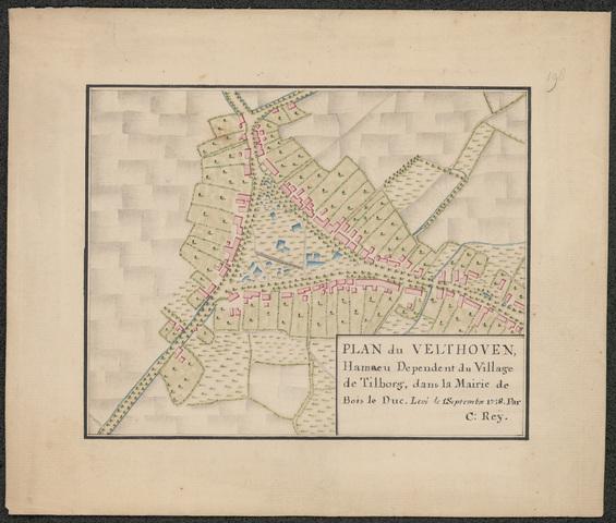 652501 - Fragment-kaart D. Zijnen. Velthoven