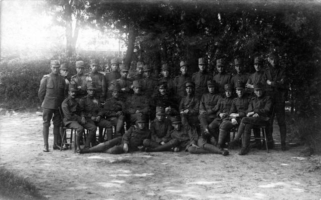 1709_0027 - Groep militairen. Familie Franken-Donders. WWI