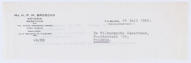059754 - Briefhoofd. Briefhoofd van notaris Mr. H.P.M. Broeckx, Nieuwlandstraat 7