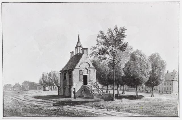 057138 - Tekening. Oisterwijk. Het Stad- of Raadhuis. Tekening door D.T. Gevers van Endegeest.