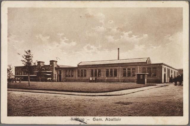 010391 - Slachterijen. Gemeentelijk abattoir aan de Enschotsestraat. Tot de oprichting werd besloten in 1917.