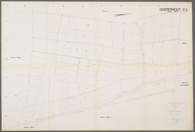 104998 - Kadasterkaart. Kadasterkaart / Netplan Oosterhout. Sectie C5. Schaal 1: 2.500.