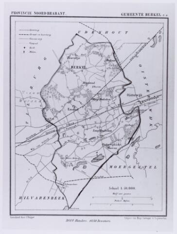 061551 - Kaart. Landkaart van de gemeente Berkel-Enschot getekend door J.Kuijper.