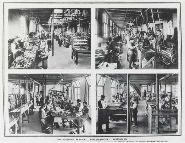 056412 - Lederindustrie. Van Dortmond-Pennock (hofleverancier), Kaatsheuvel.  Export luxe schoeisel in het fijnere kinder- dames en heerenwerk.
