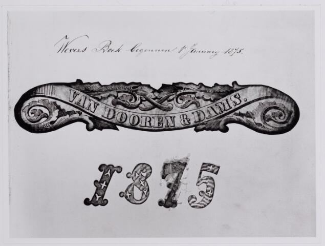 037627 - Textielindustrie. Weversboek van Van Dooren van Dams.