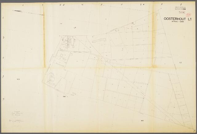 104962 - Kadasterkaart. Kadasterkaart / Netplan Oosterhout. Sectie L1. Schaal 1: 2.500.