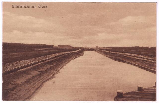 002741 - Het Wilhelminakanaal onder Tilburg. De plannen tot het graven van een kanaal werden reeds in 1890 door de gemeenteraad goedgekeurd, maar het duurde tot 1905 voordat de wet van 17 juni van dat jaar de uitvoering mogelijk maakte. Het eerste traject van het kanaal, Geertruidenberg-Oosterhout, werd in 1909 aanbesteed. Pas in 1923 was het hele kanaal klaar. Voor de werken aan het kanaal onder Tilburg werd met ingang van 1 november 1911 de adjunct-ingenieur bij Rijkswaterstaat P. van den Breggen aangesteld.