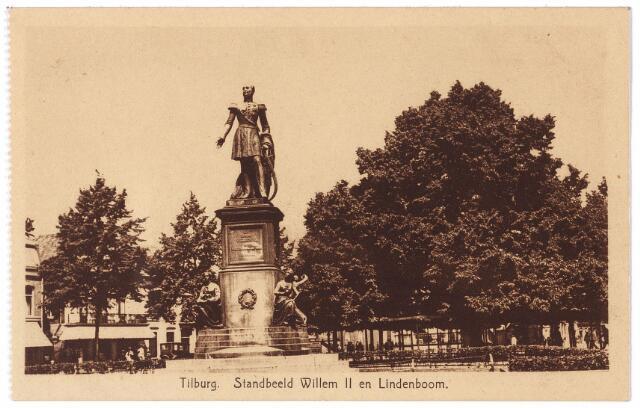 000993 - Standbeeld Willem II en lindeboom op de Heuvel.