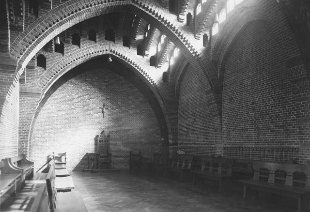 105215 - Interieur nieuwbouw. Kapittelzaal. Kloosters. Sint Paulusabdij.  Kloosters. Sint Paulusabdij.
