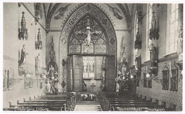 040043 - Interieur van de kapel van de novicen in het moederhuis van de zusters van liefde van O.L.V. Moeder van Barmhartigheid aan de Oude Dijk.