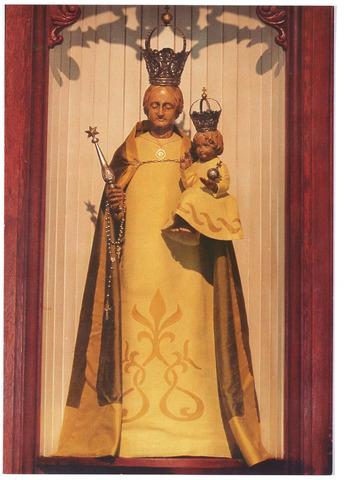 000703 - Hasseltplein Hasseltse kapel, het beeld van O.L.V. in deze kapel, een devotiebeeld uit 1796.