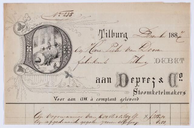 059897 - Briefhoofd. Nota van Deprez & Co, Stoomketelmakers, voor Oieter van Dooren