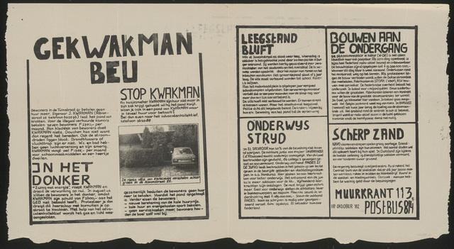 668_1982_113 - Muurkrant: Gekwakman beu