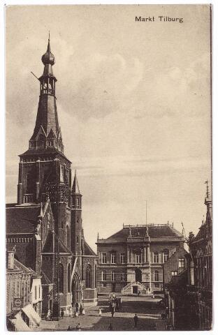 001856 - Oude Markt voorheen de Markt met kerk en voormalige gemeentehuis.