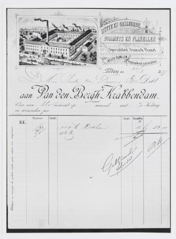 037509 - Textiel. Rekening van 32 gulden voor geleverde goederen door de firma  Van den Bergh-Krabbendam (Beka) aan Pieter van Dooren