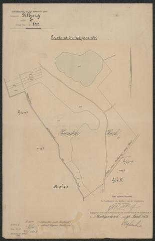 652591 - Kadaster. Hulpkaart 1832 Tilburg, Sectie E (De Blaak). Schaal 1:2500. 1832.