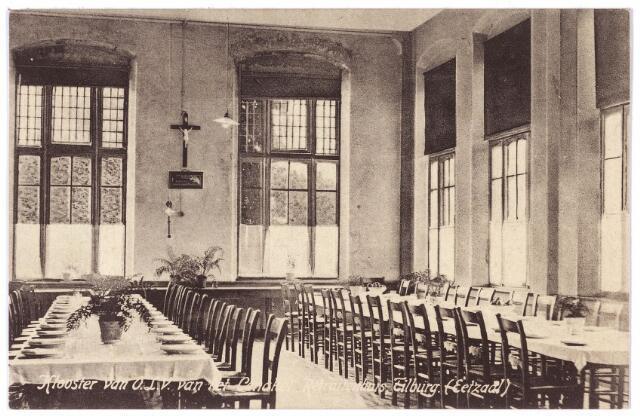 001430 - Eetzaal in het retraitehuis van O. L. V. van het Cenakel aan de Koningshoeven, nu Kempenbaan.