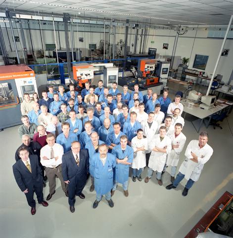 D-00707 - Foto personeel - SMS Stamp Tool & Mould Technologies B.V. Tilburg (tegenwoordig ART Group)