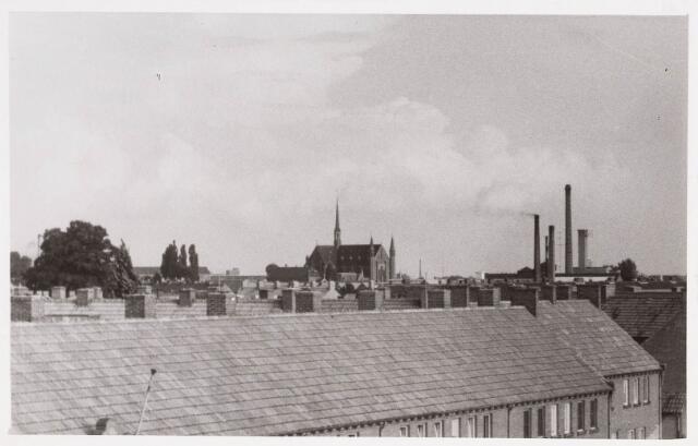 036603 - Panorama van Tilburg vanaf het viaduct aan de Ringbaan-West