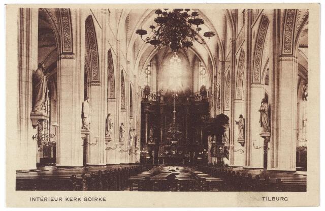 000582 - Interieur R.K. kerk St. Dionysius aan de Goirkestraat.