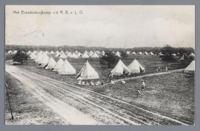 058071 - Rijen, Kamp van de Rotterdamse bond voor lichamelijke opvoeding. Vacantiekamp voor kinderen opgericht in 1924,  Kampbeheerder H.A. Koert.