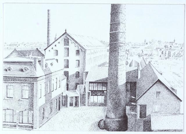 000620 - Tekening. Textielindustrie. Voormalig fabriekscomplex van de firma C. Mommers aan de Goirkestraat.