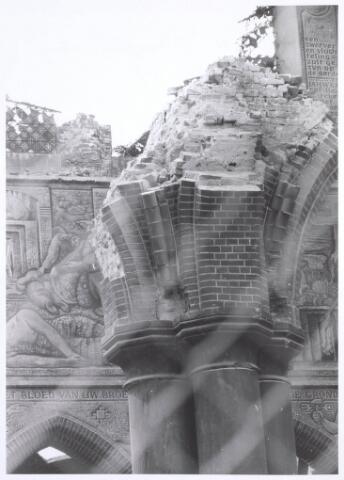 020093 - Sloop van de kerk van het Heilig Hart, parochie Noordhoek, in 1975. De kerk werd gebouwd in 1897/1898 naar een ontwerp van dr. P.J.H. Cuypers