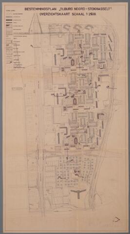 059439 - Kaart. Stadsuitbreiding. Bestemmingsplan. Tilburg Noord Stokhasselt, 1966