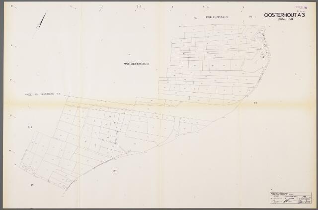 104990 - Kadasterkaart. Kadasterkaart / Netplan Oosterhout. Sectie A3. Schaal 1: 2.500.