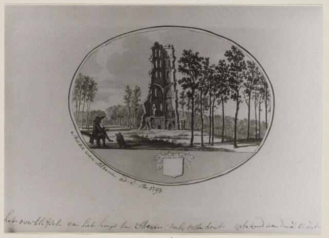 100894 - Kastelen. Ruine van  Huize Ten Strijen.