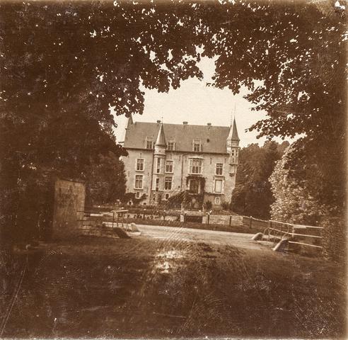 653610 - Kasteel, landhuis, locatie onbekend. (Origineel is een stereofoto.)