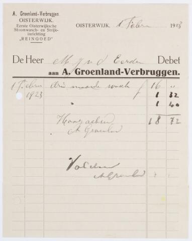 057173 - Briefhoofd. Oisterwijk. Briefhoofd wasserij Reingoed van de familie A. Groenland-Verbruggen te Oisterwijk