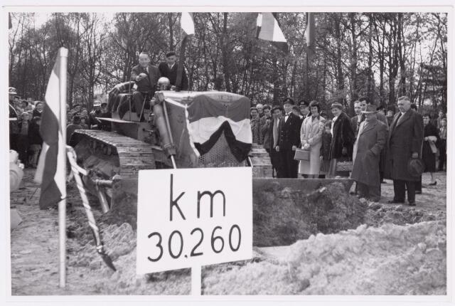 036871 - Spoorwegen: Bels Lijntje (eerste spade Hoogspoor)