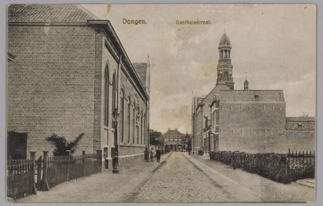 085403 - Dongen. Gashuisstraat met links Leo XIII gebouw.
