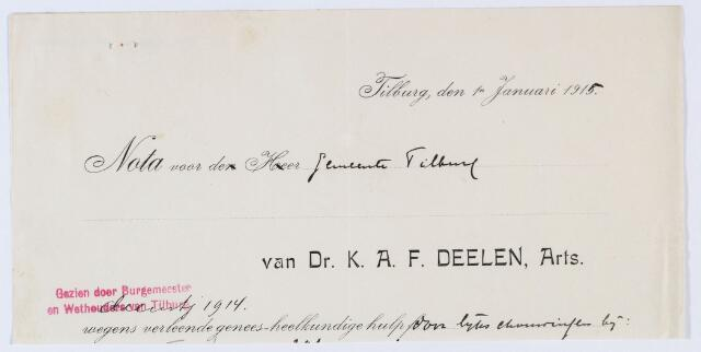 059881 - Briefhoofd. Nota van Dr. K.A.F. Deelen, arts voor de gemeente Tilburg
