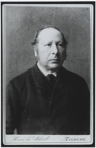 056222 - Linnenfabrikant Godefridus van Enschot, geboren te Goirle op 5 juni 1833 en aldaar overleden op 13 januari 1908. Hij was een zoon van Willem van Enschot en Adriana Marcelis en trouwde met Adriana van de Lisdonk.